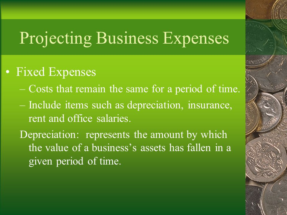 Projecting Business Expenses