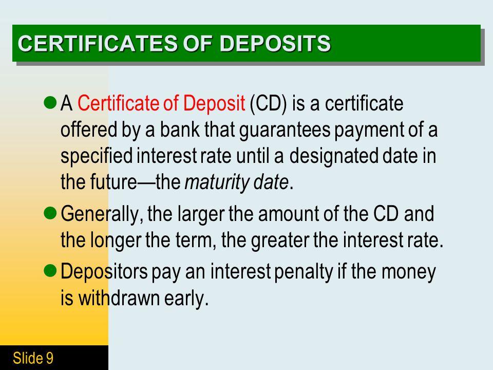 4 DEPOSITS IN BANKS 4.1 Deposit Accounts 4.2 Interest-Bearing ...