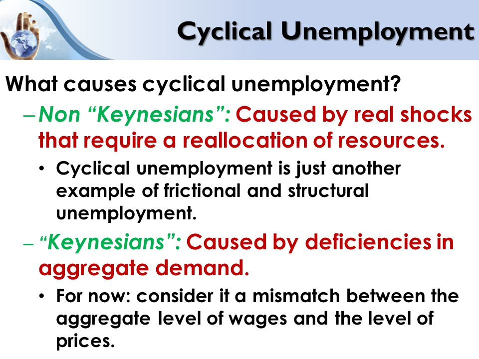 the increase in both structural and cyclical employment due to economic underdevelopment Economic losses from unemployment are large, since they relate to all goods and services that could be produced by the unemployed, to income losses for the unemployed household, to consumption and employment losses caused by reduced demand of the latter, to a wide range of social pathologies and health diseases.