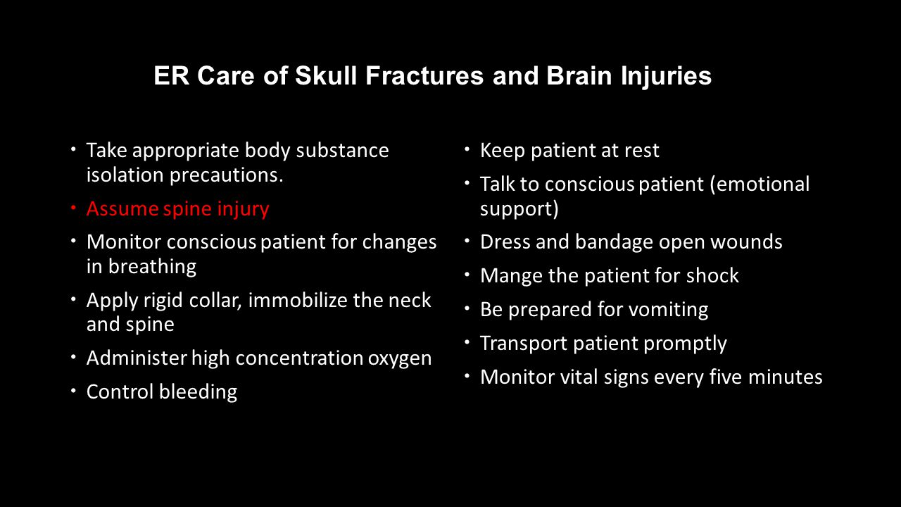 ER Care of Skull Fractures and Brain Injuries