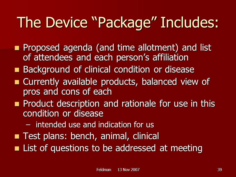 The Device Package Includes: