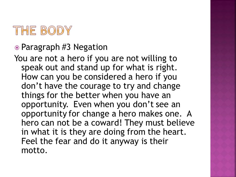 negation of a hero