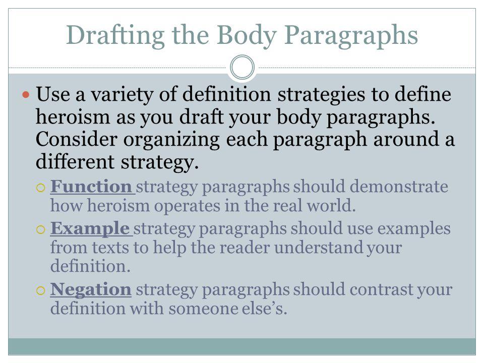 define body paragraph
