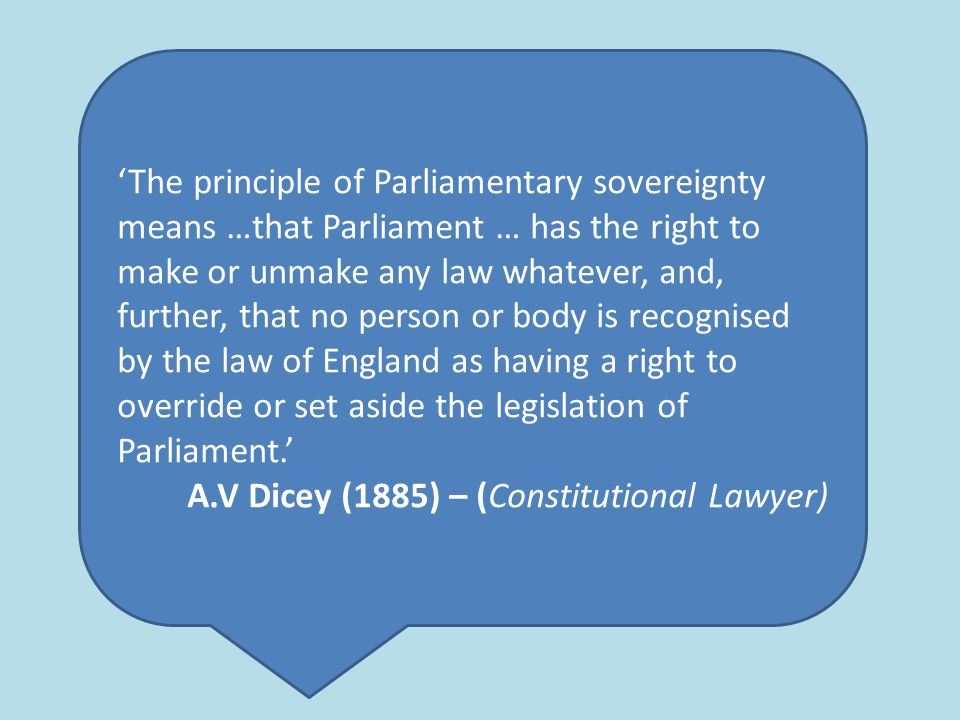 av dicey parliamentary sovereignty