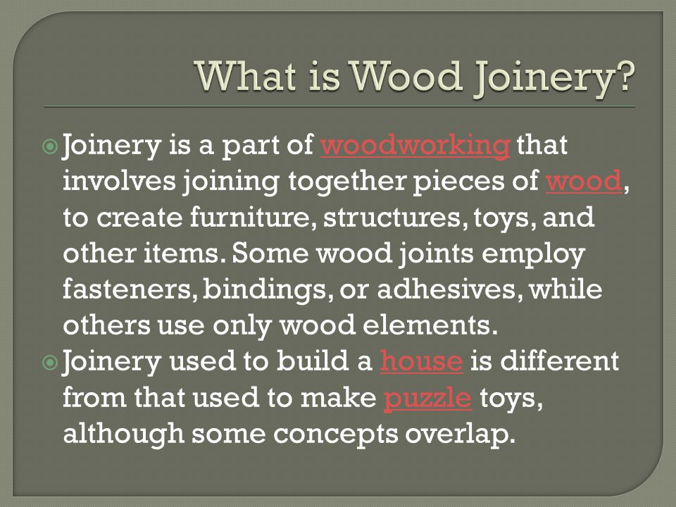 Wood Joints Ppt Download