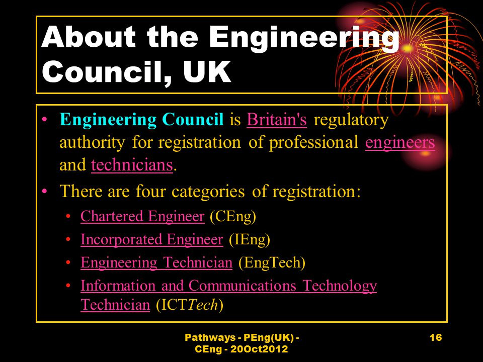 About the Engineering Council, UK