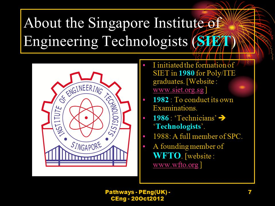 About the Singapore Institute of Engineering Technologists (SIET)