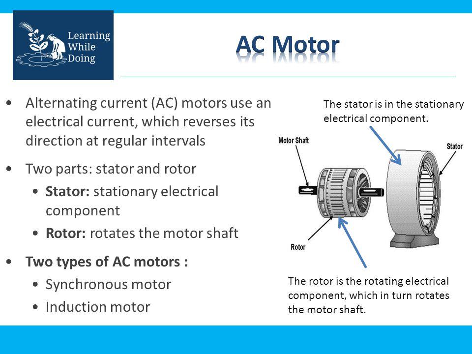 Electric AC Motor Vigyan Ashram, Pabal  - ppt download
