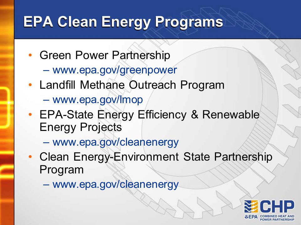 EPA Clean Energy Programs