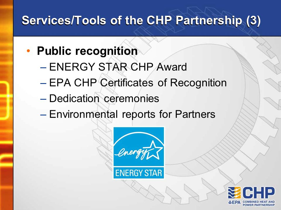 Services/Tools of the CHP Partnership (3)