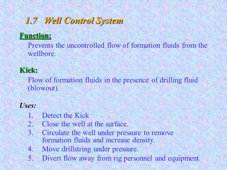 DRILLING ENGINEERING CHAPTER # 1 Rotary Drilling Rigs  - ppt