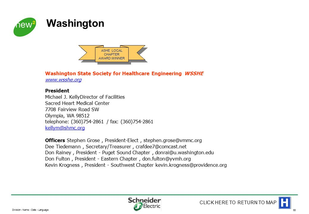 American Society of Healthcare Engineers (ASHE) US Locations