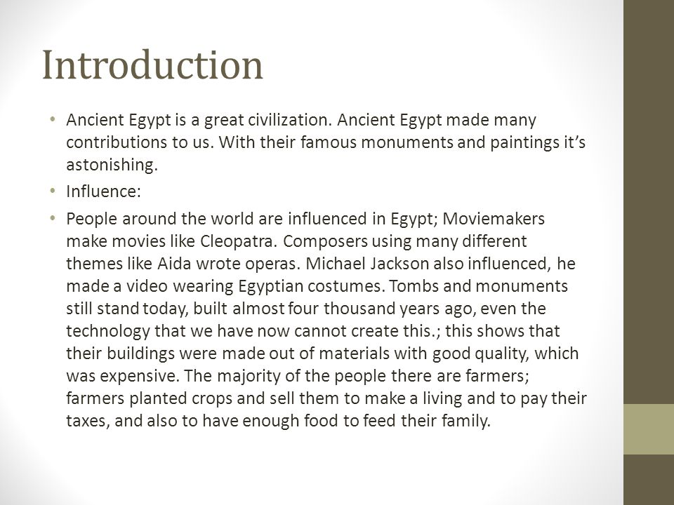 ancient egypt contributions to the world