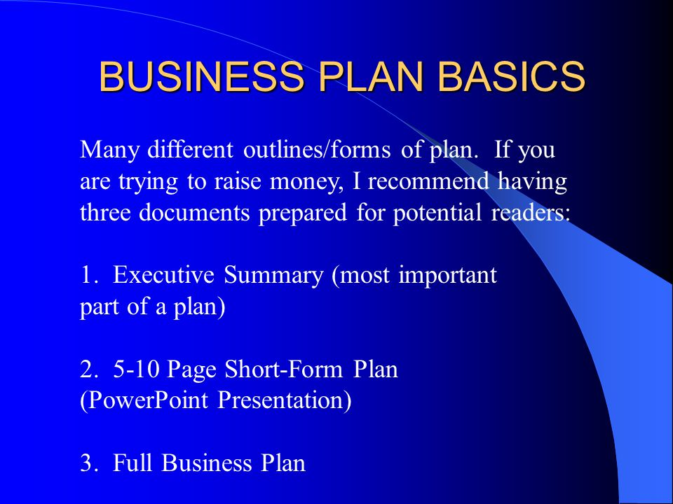 ENTR 452 Business Plan Slides Chapter 7