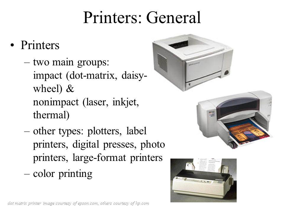 Ppt evolution of printers powerpoint presentation id:5831755.