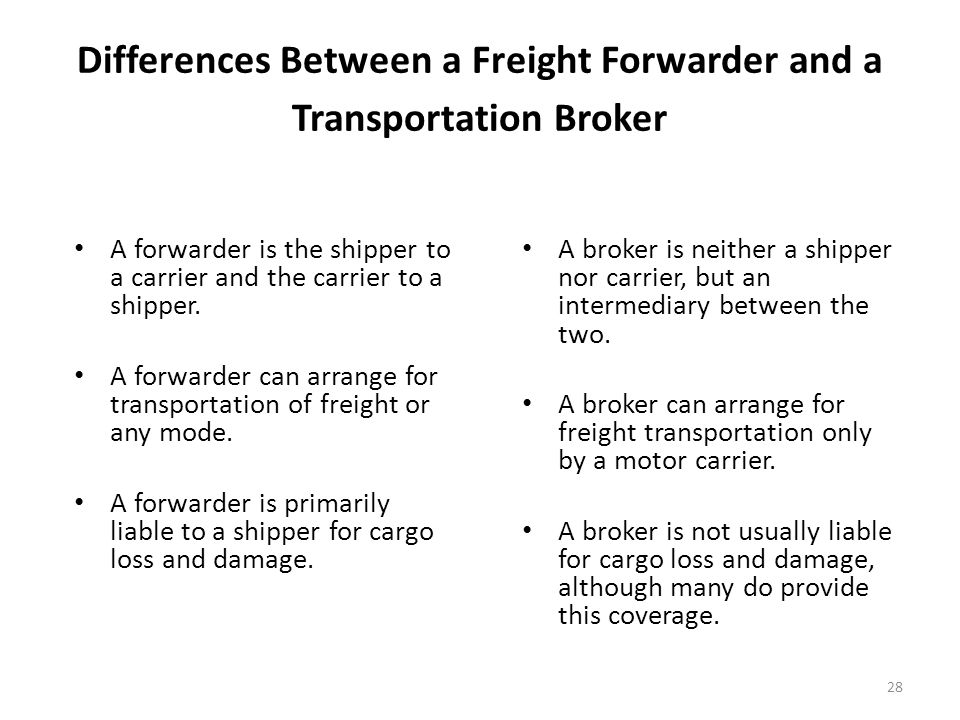 Chapter 8 transportation ppt video online download for Can a motor carrier broker freight