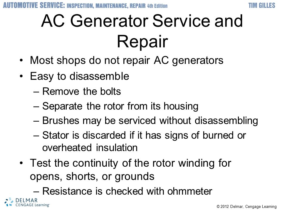 AC Generator Service and Repair