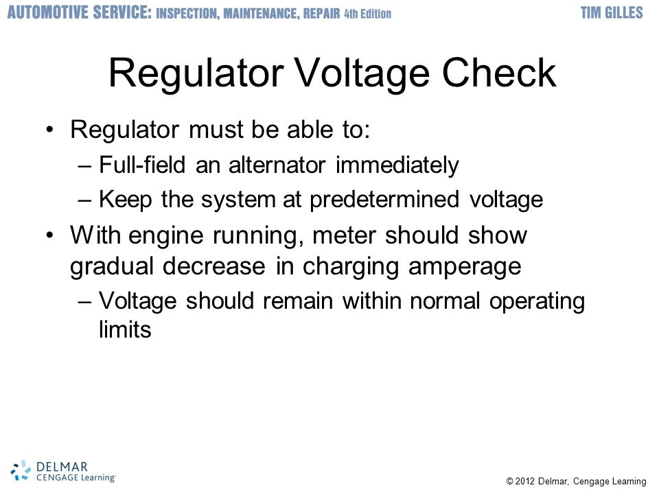 Regulator Voltage Check