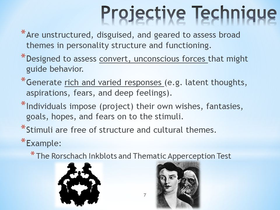projective techniques for measuring personality