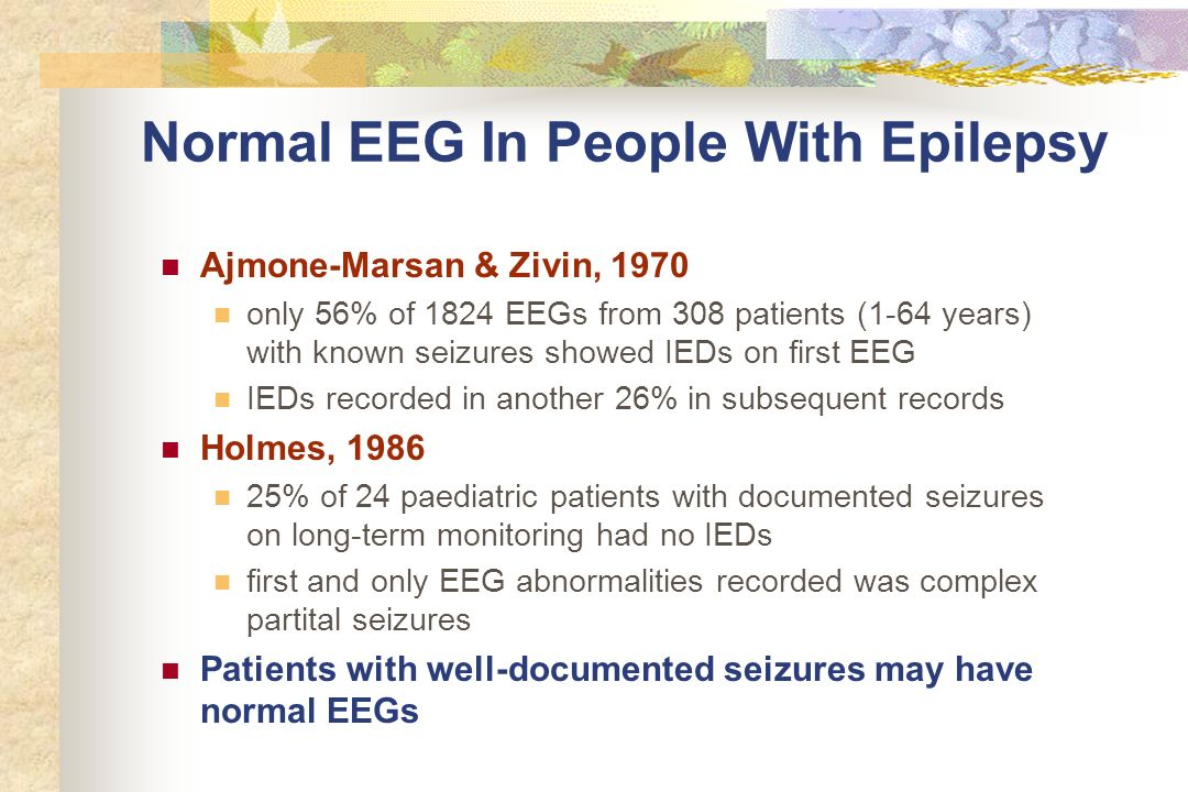Normal EEG In People With Epilepsy