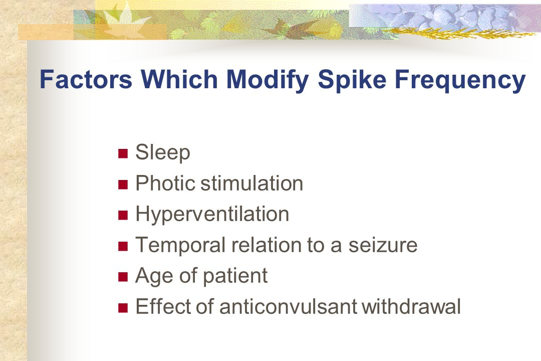 Factors Which Modify Spike Frequency