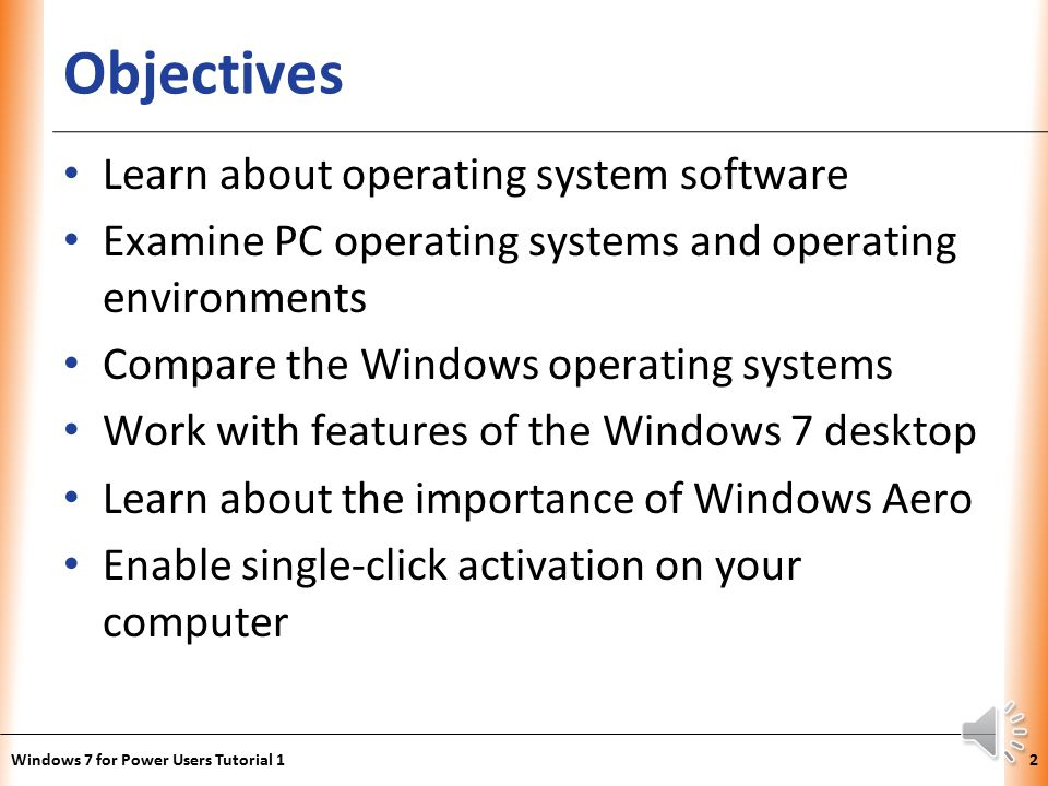 Tutorial 1 exploring the windows 7 operating system ppt video.
