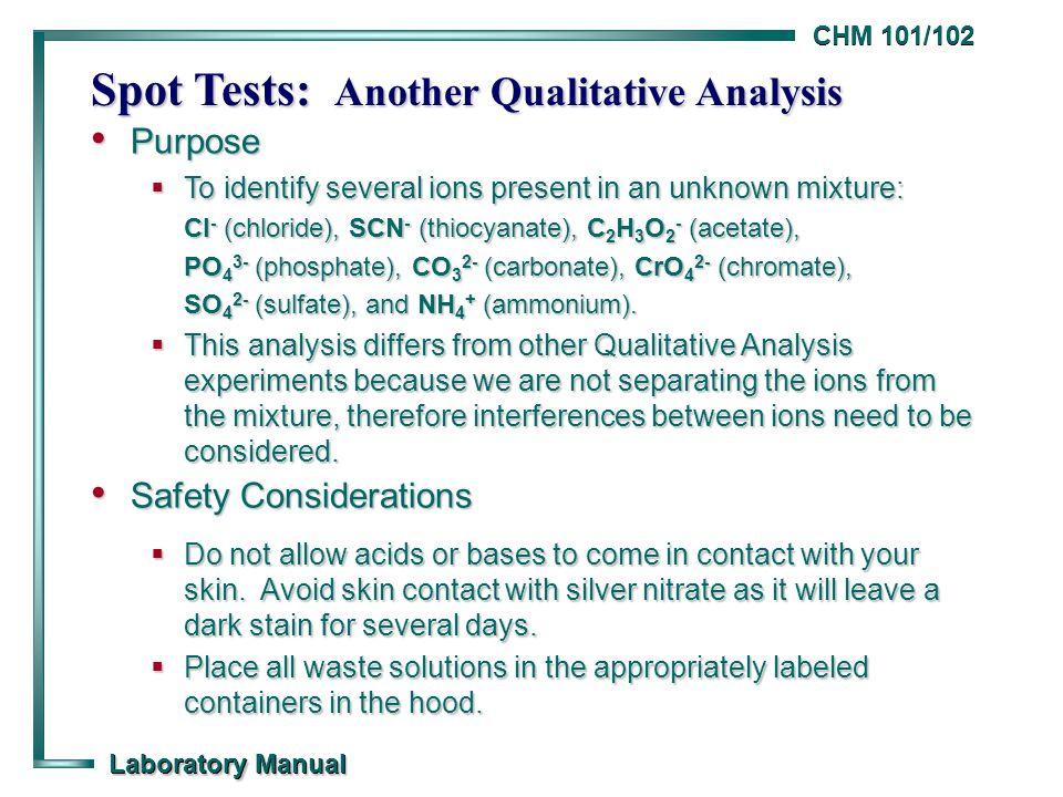 qualitative analysis of ions lab