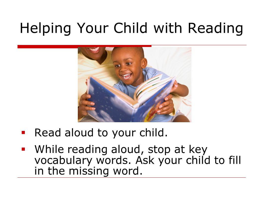 Helping Your Child with Reading