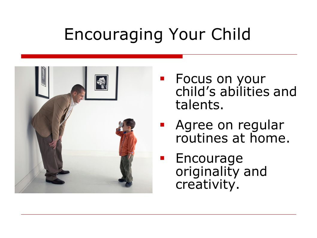 Encouraging Your Child