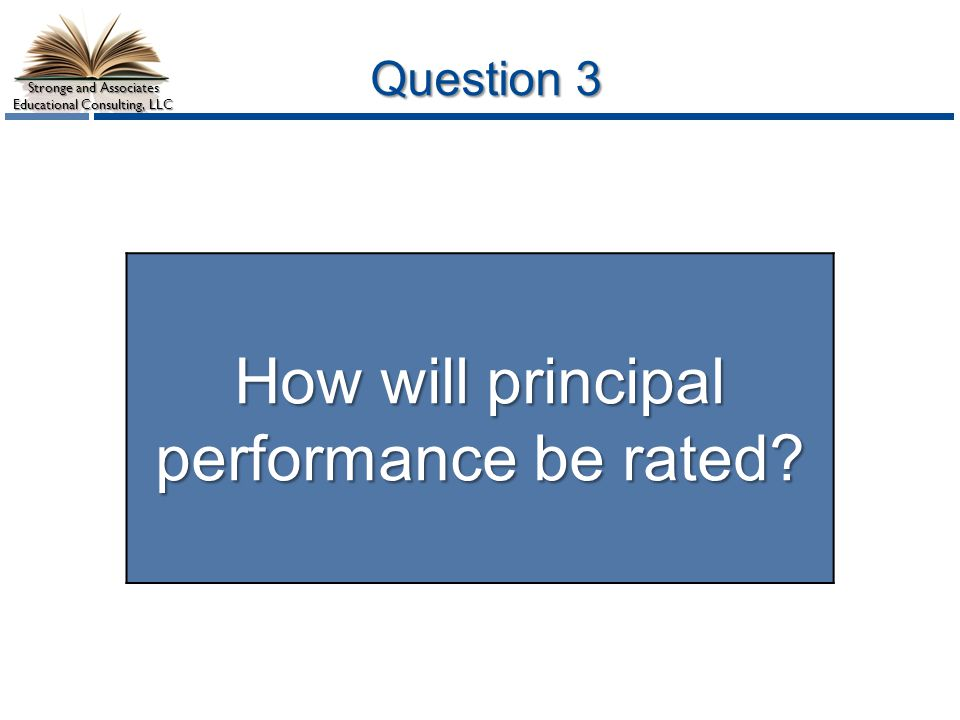 How will principal performance be rated