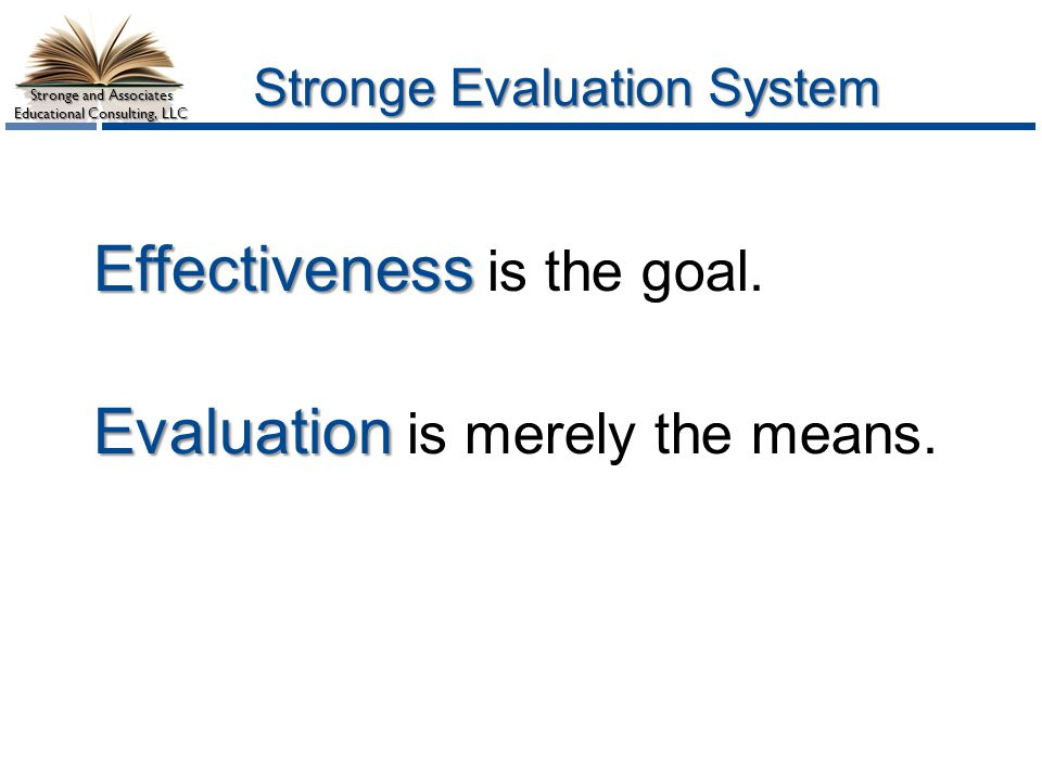 Stronge Evaluation System