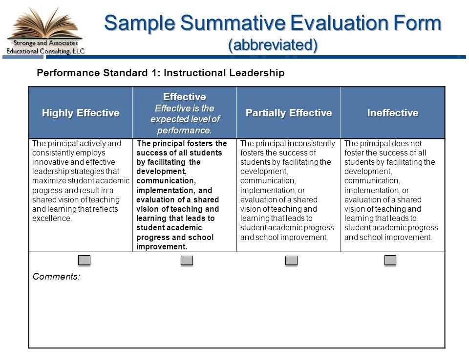 Stronge Leader Effectiveness Performance Evaluation System Ppt