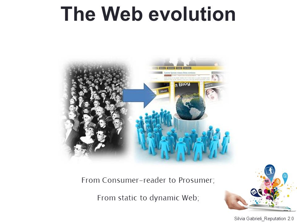 The Web evolution From Consumer-reader to Prosumer;