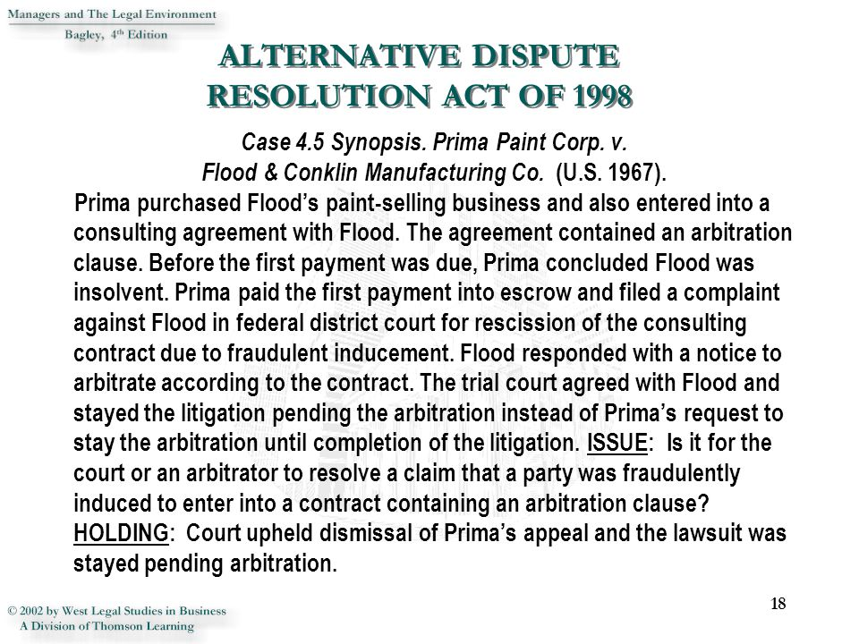 Chapter 4 Alternative Dispute Resolution Ppt Download
