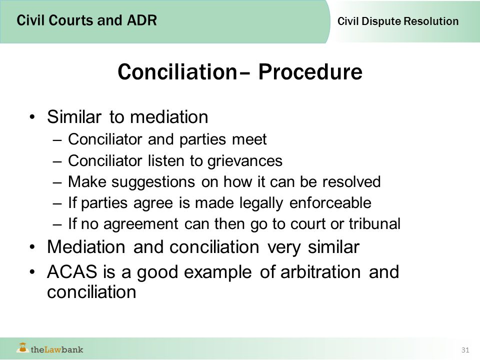 The Civil Courts And Other Forms Of Dispute Resolution Ppt Video