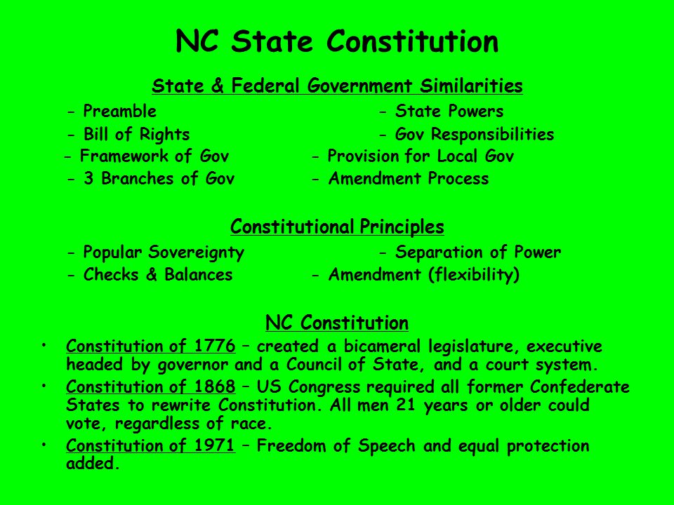 similarities between state and federal government
