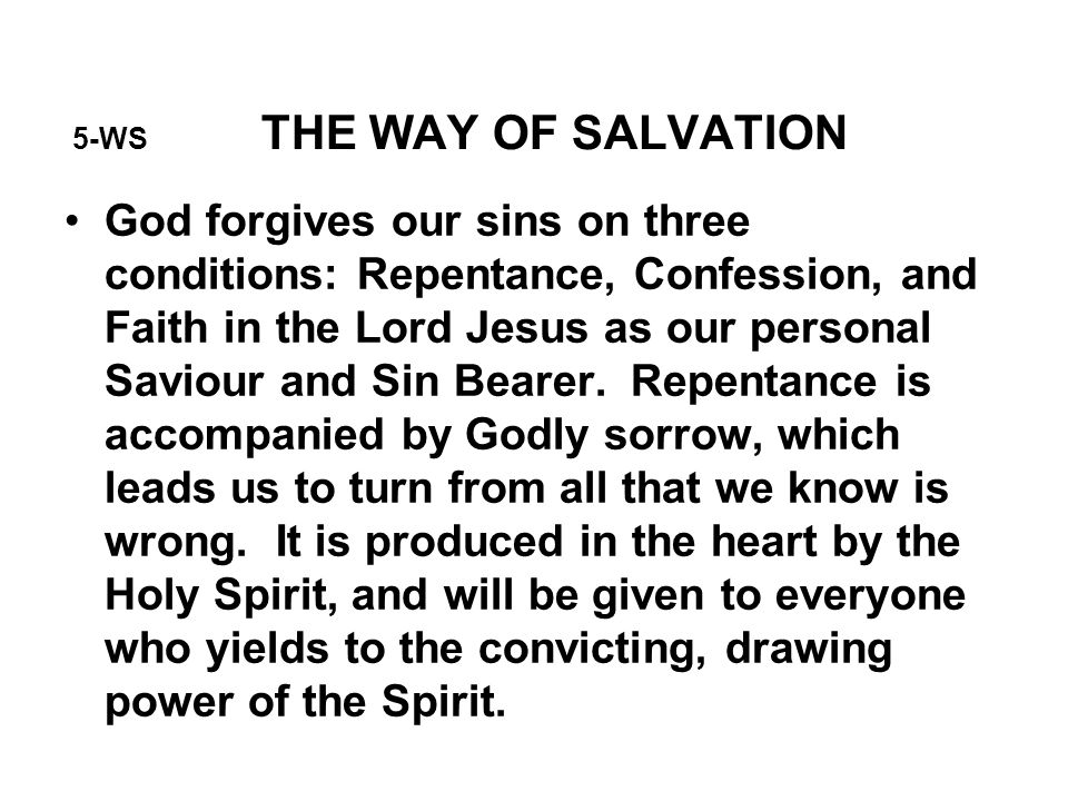 5-WS THE WAY OF SALVATION