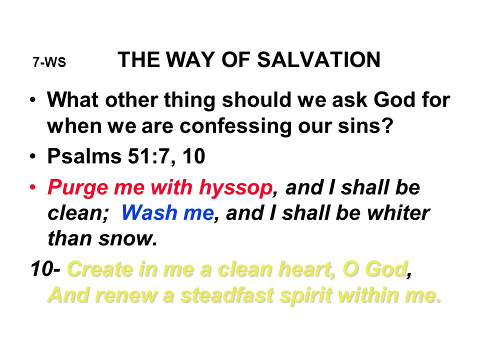 7-WS THE WAY OF SALVATION