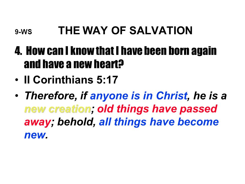 9-WS THE WAY OF SALVATION