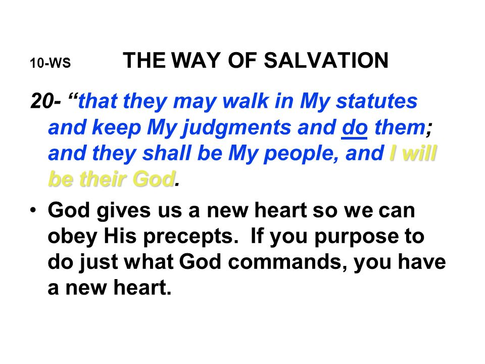 10-WS THE WAY OF SALVATION