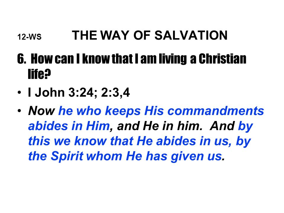 12-WS THE WAY OF SALVATION