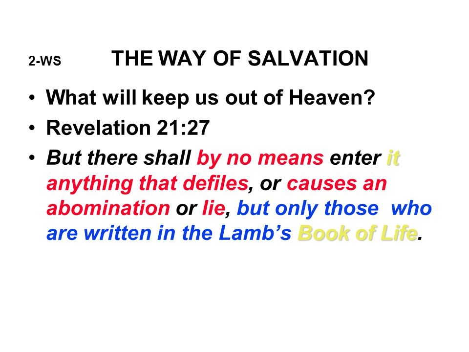 2-WS THE WAY OF SALVATION