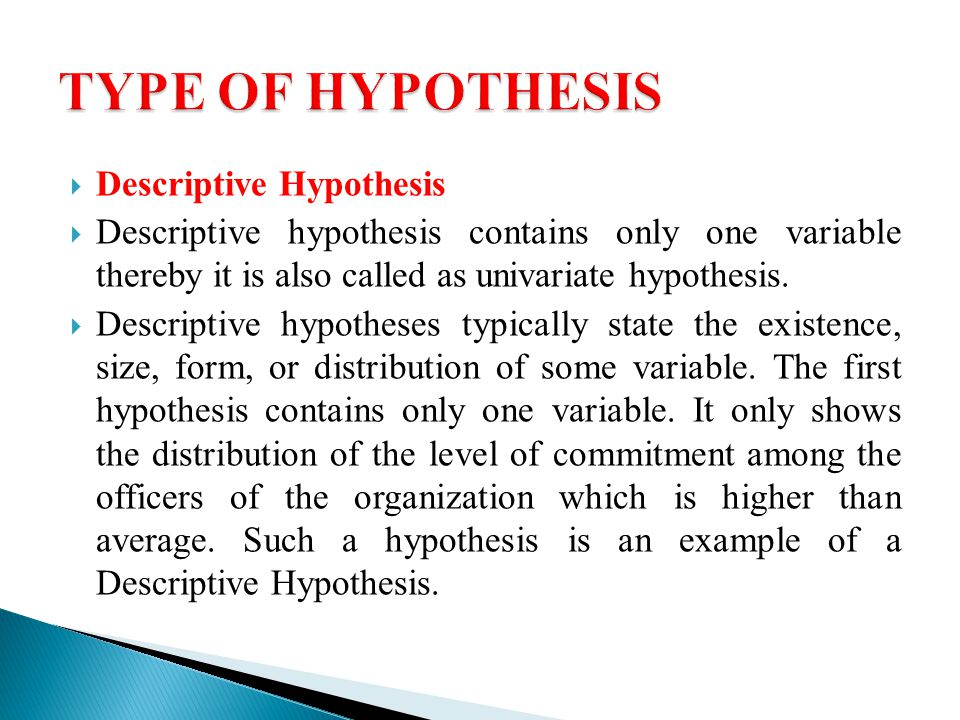 Hypothesis Prof Rk Sharma Department Of Public Administration