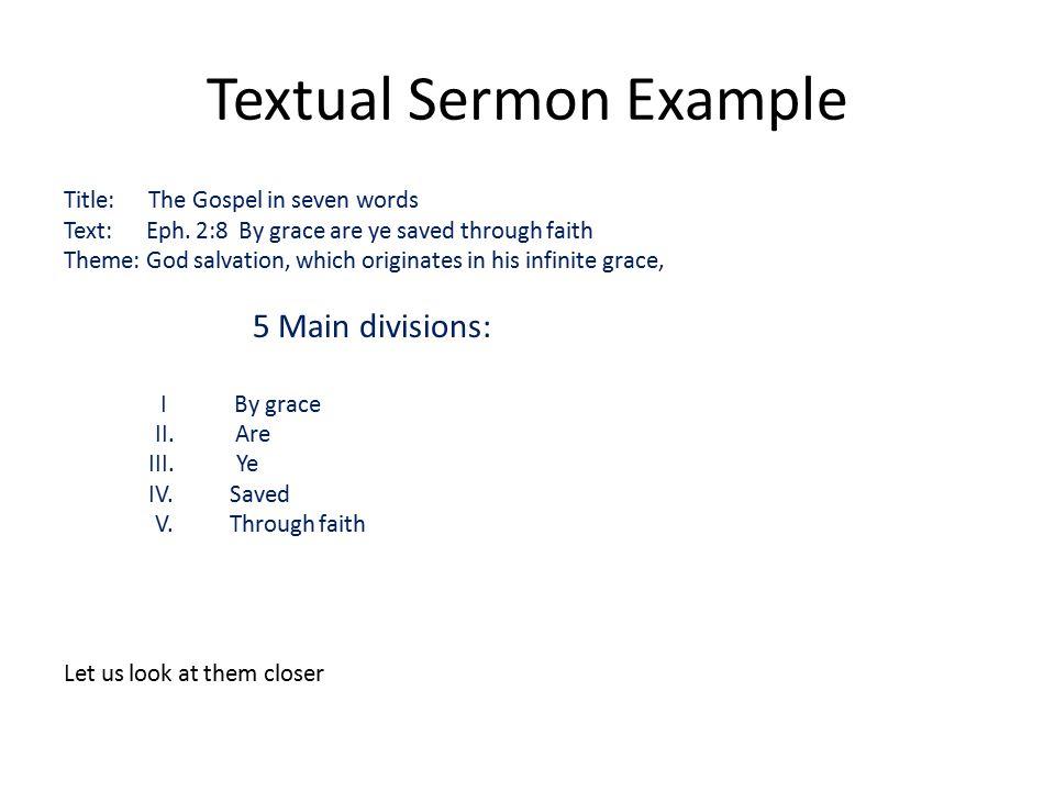 Free expository sermon examples