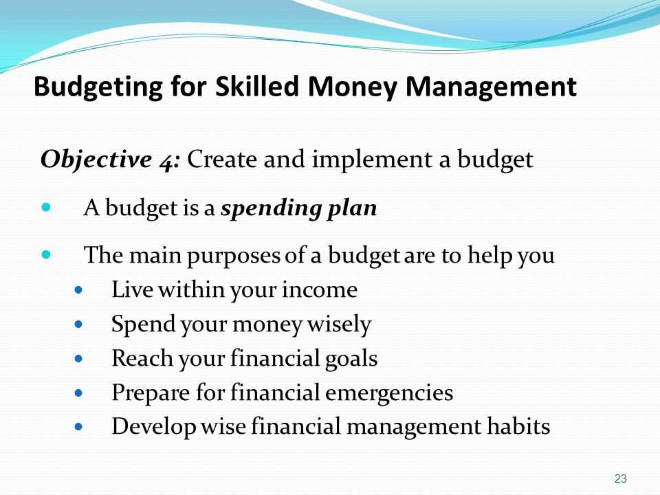 Budgeting for Skilled Money Management