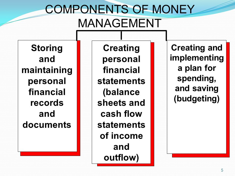 COMPONENTS OF MONEY MANAGEMENT