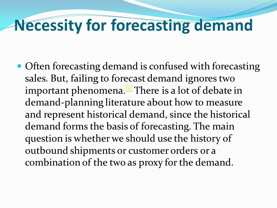Demand Planning And Forecasting Ppt