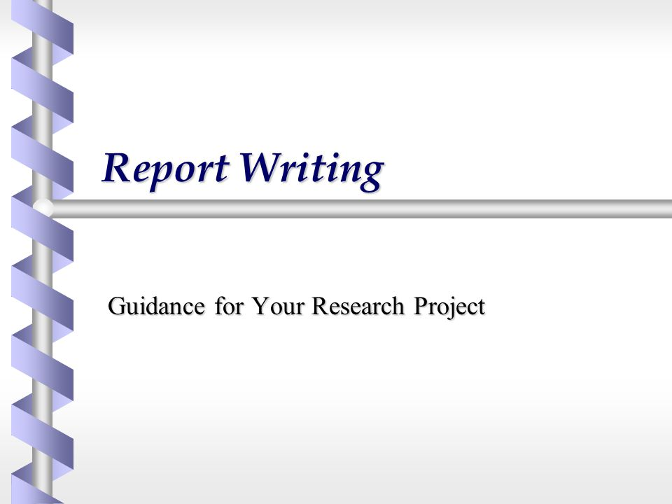 Guidance for Your Research Project