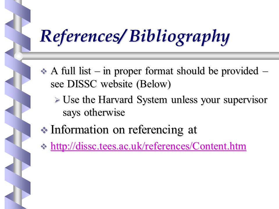 References/ Bibliography