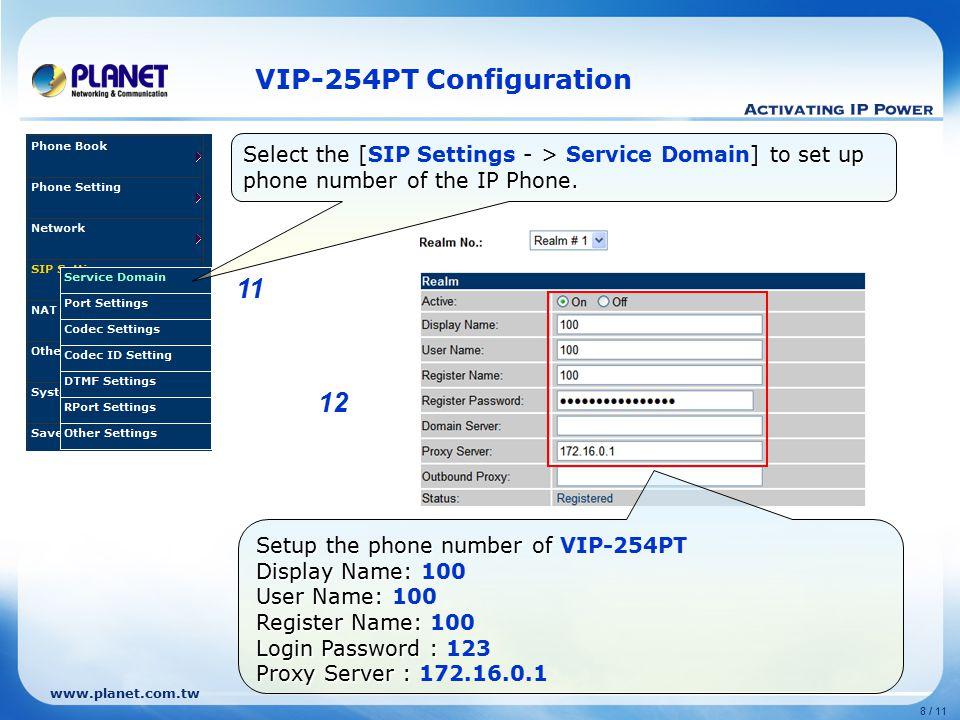 Sip Configuration